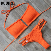 RUUHEE Bikini Swimwear Women Swimsuit Halter Bikini Set 2018 Sexy Multi Strap Bathing Suit Push Up