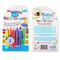 6 pçs/lote nova da criança do bebê crianças educacionais brinquedo de banho lavável crayons bathtime fun play cx872958