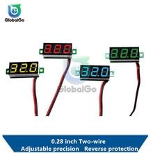 0.28 inch Mini DC 2.5-30V Voltmeter 2 Wire Gauge Voltage Meter Digital LED Display Digital Panel Meter Tester Detector Tool