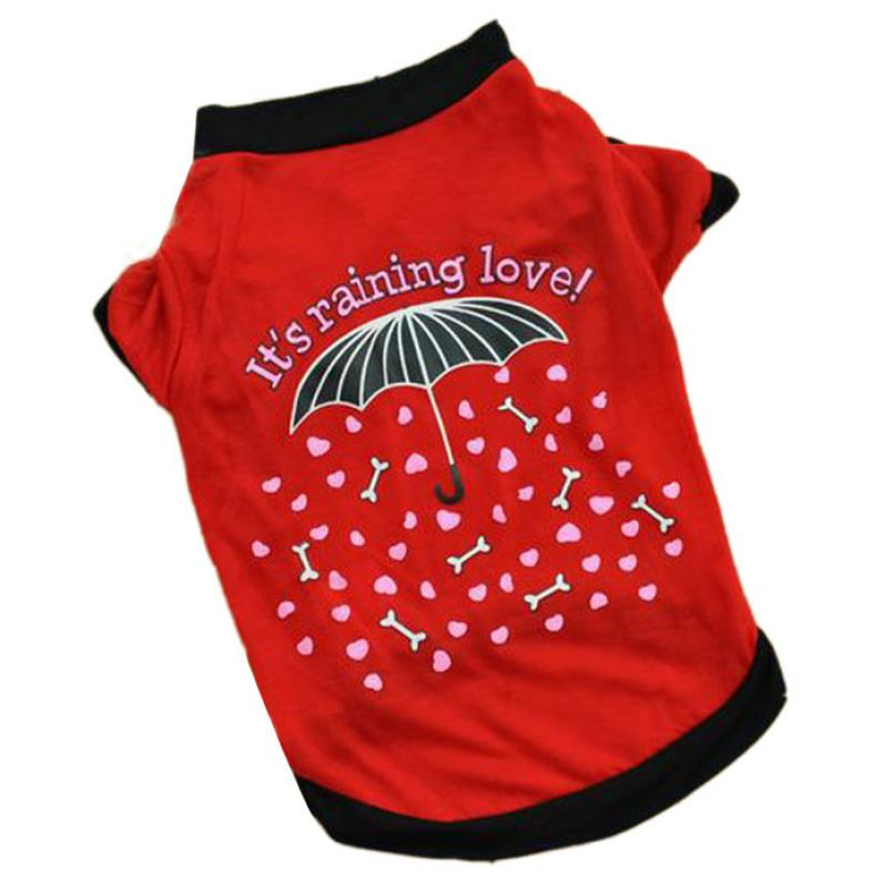 Pet Dog Clothes Rain Pattern Summer Pet Puppy T Shirt Small Dog Cat Clothing Vest Mascotas Ropa Perros #7313