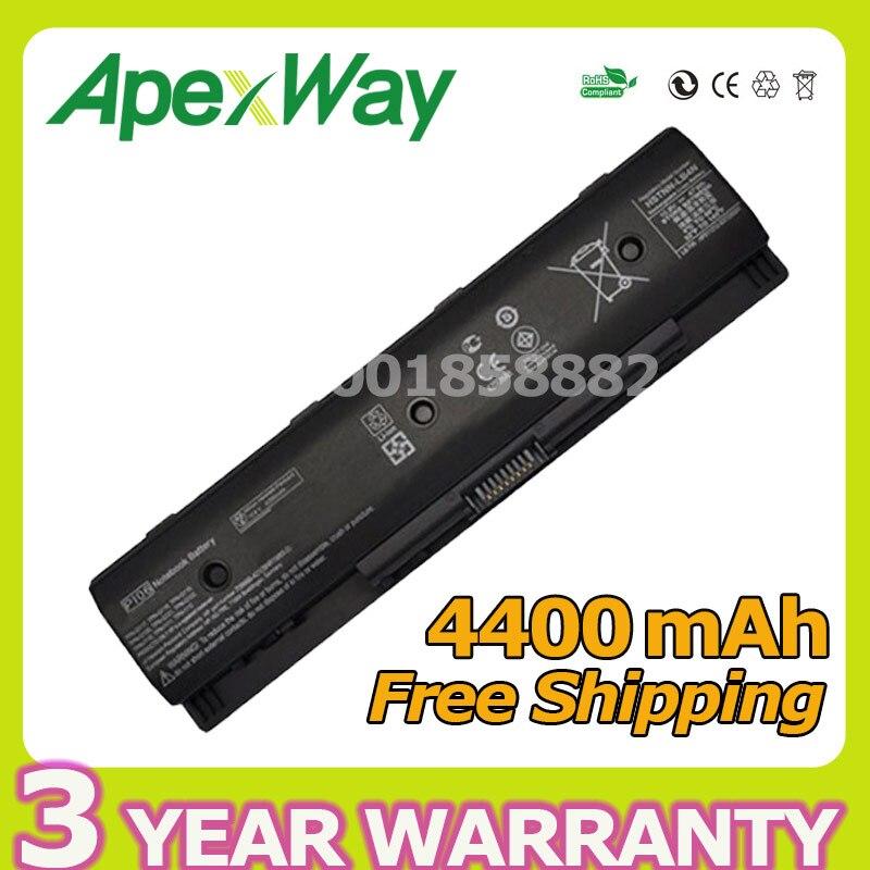 Apexway 4400mAh HSTNN-LB4N HSTNN-LB4O HSTNN-YB4N HSTNN-YB4O PI06 P106 PI09 For HP Envy TouchSmart 14 14t 14z 15 15t 15z 17 17t lmdtk new 6cells laptop battery for hp envy 14 15 17 touchsmart 17z series p106 pi06 pi06xl pi09 free shipping