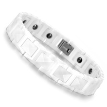 Tungsten Mens Bracelet, Magnetic Bangle, White Colour Health Care Wristband Jewelry KB898