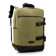 2016 Durable Vintage Canvas Backpack Popular School Bag Casual Travel Rucksack Shoulder Bags