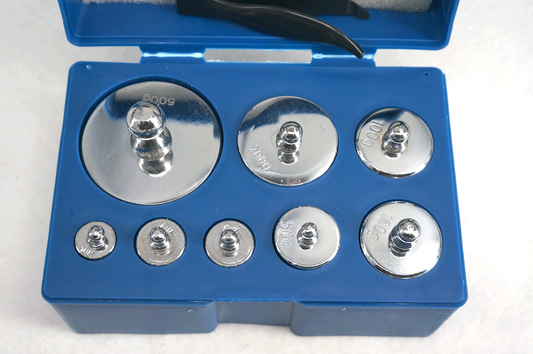 Box Of Set Include 10g 20g*2 50g 100g*2 200g 500g Total 1000g Chrome Plating Steel Calibration Weight