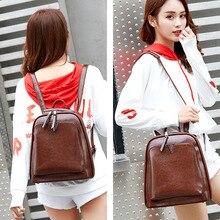 Fashion Women Backpack High Quality Youth Leather Backpacks for Teenage Girls Female School Shoulder Bag Bagpack Female