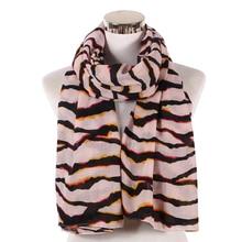 2018 Fashion Pink Black Striped Leopard Women Shawls Scarf For Ladies Headscarf Hijab