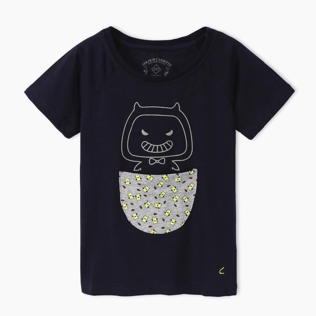 Free Shipping ! Original Designed Premium 100%Cotton Jersey with Cartoon Cat Print Short Sleeve boy's t shirt . Exclusive !
