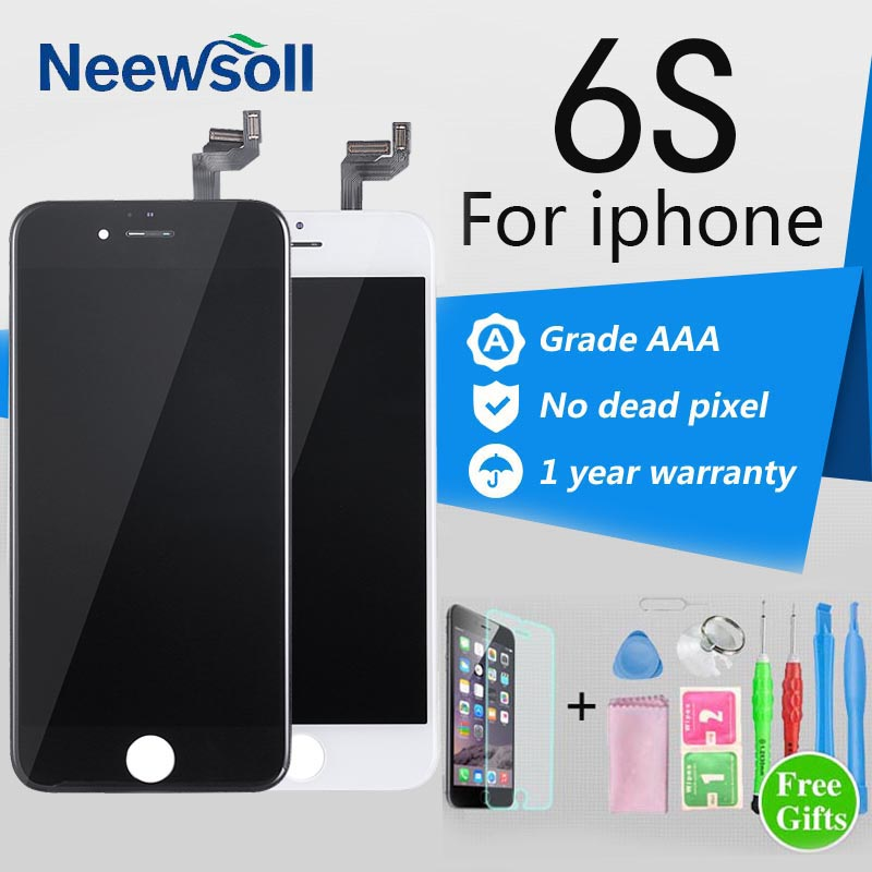 Grade AAA+ LCD Touch Screen For iPhone 6S Digitizer Assembly Display With Free Gifts No Dead Pixel Free ShippingLCD-6S