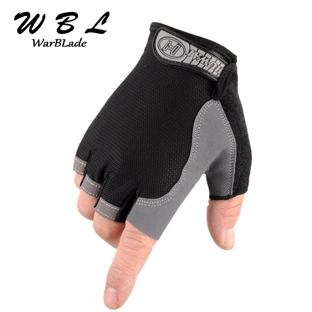 WARBLADE Non-Slip Fingerless Gloves Men Women Half Finger With Gel Padded Lycra Work Out Mittens Guantes Mujer 2018 Hot