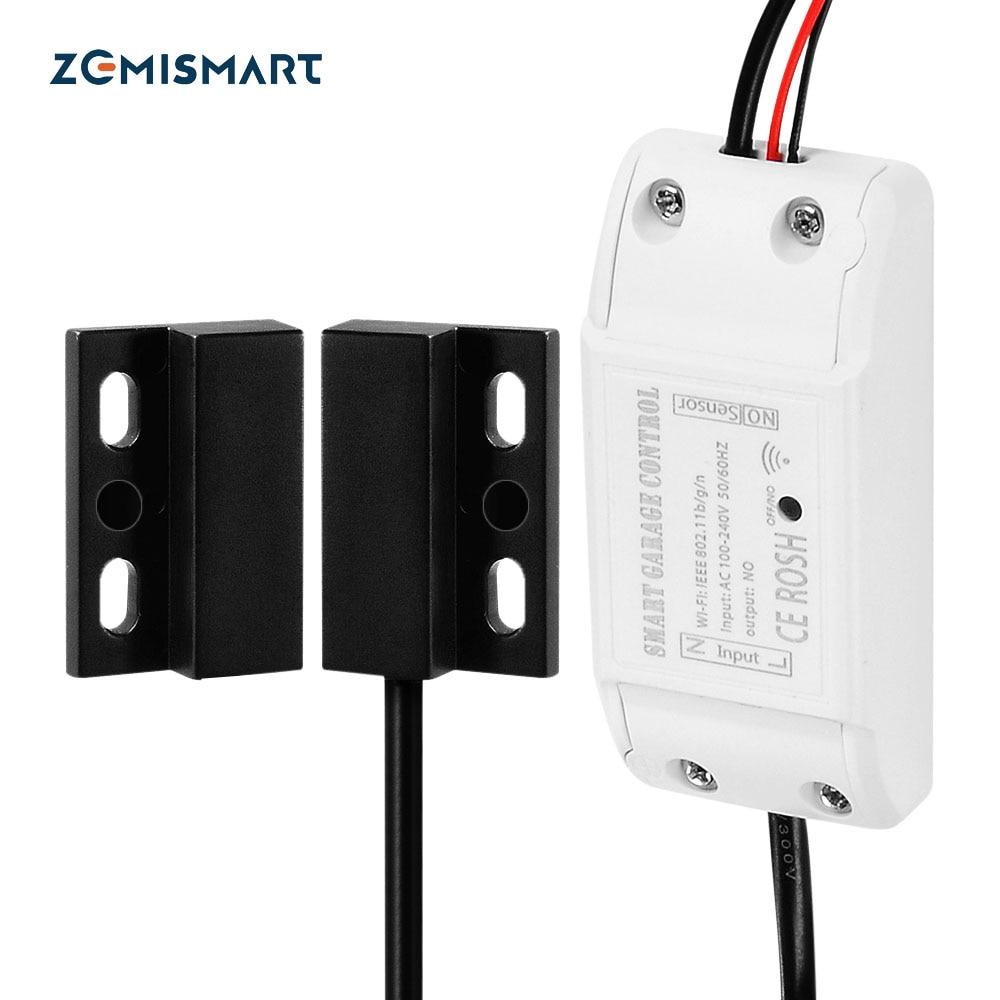 Controlador de puerta de garaje Wifi Zemismart para abridor de puerta de garaje APP Control remoto Control de voz Alexa Google IFTTT-in control remoto inteligente from Productos electrónicos    1