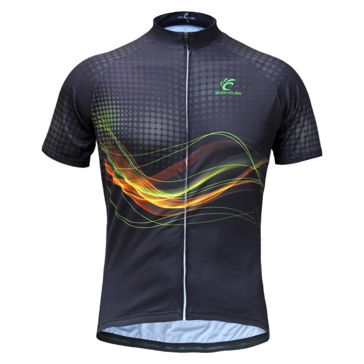 808c05d384 JESOCYCLING Impressão Sublimada Camisa de Ciclismo Verão Ciclismo Vestuário  dos homens Fábrica Venda Diretamente Ao Ar Livre Sports Bike Wear