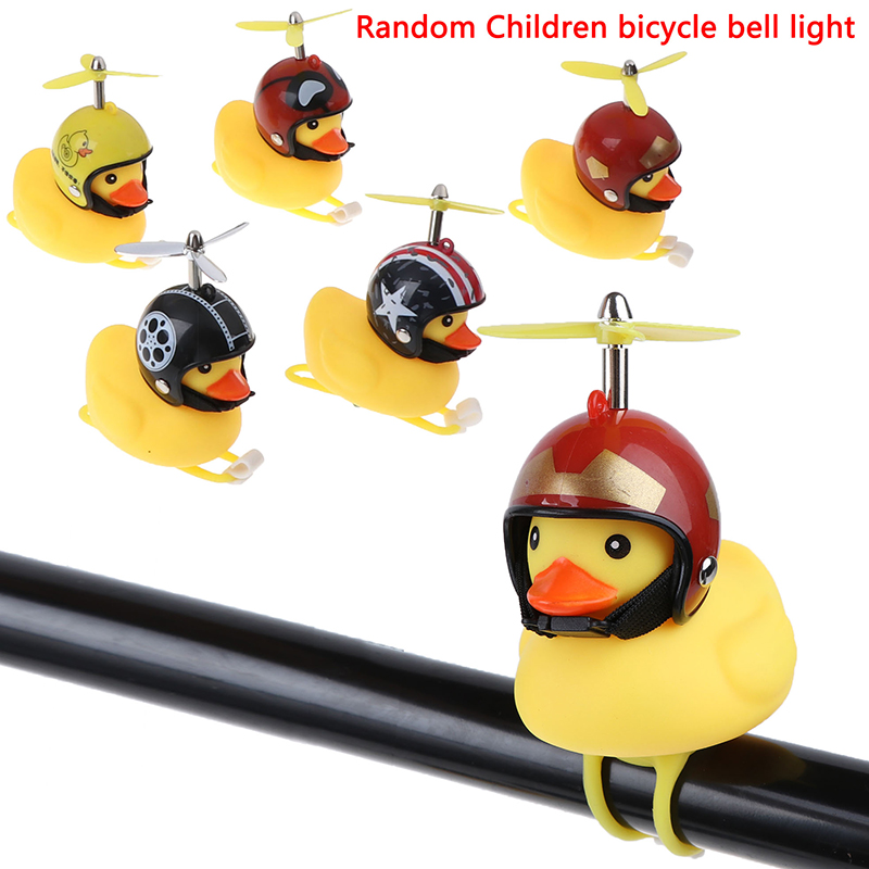 Handlebar Rubber LED Light Yellow-Duck Bell Bike Bicycle Motocycle Bells Loud