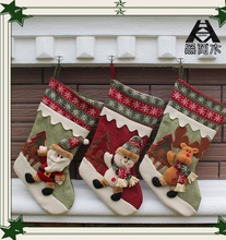1 Stücke 3D Kreative Weihnachten Socken Geschenke Weihnachtsdekoration Geschenk Weihnachtsstrumpf Für Familie