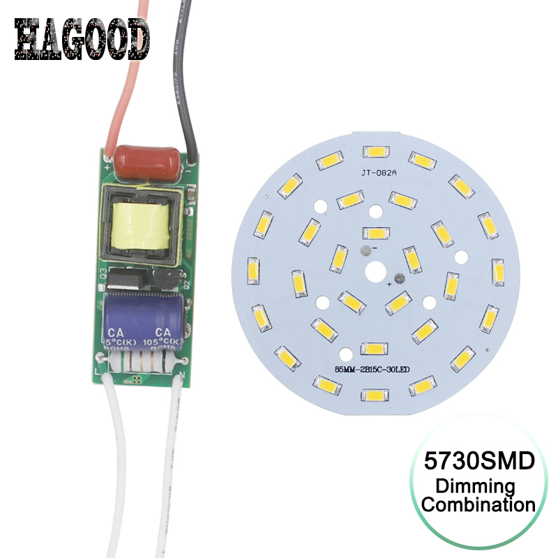 1Set dimmable driver power supply transformer driver +SMD5730 board light source For desk night light dimming brightness