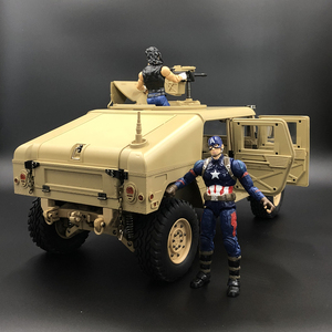 Image 2 - U. s.4X4MILITARY véhicule M1025 Humvee 1/10 rc métal châssis tout terrain véhicule voiture HG P408 amélioré lumière fonction sonore