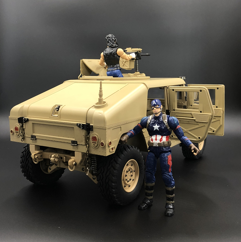 Image 2 - u.s.4X4MILITARY VEHICLE M1025 Humvee 1/10 rc Metal Chassis Off road vehicle car HG P408 Upgraded Light Sound FunctionRC Cars   -