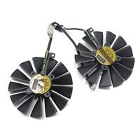 2Pcs Lot New 95mm Cooler Replace For ASUS DUAL RX580 4G ROG STRIX RX570 GTX 1050TI