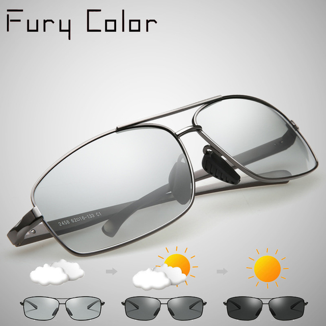 6799fbf209b Photochromic Sunglasses HD Polarized Men women driving change color goggles  Photochromic sun glasses Oculos De Sol