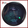 "NEW BLACK 2"" 52mm 20LED Digital Blue Led Air Fuel Ratio Gauge Meter"