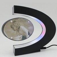 C vorm elektronische magnetische levitatie drijvende fotolijst met led-verlichting novelty gift woondecoratie foto frames 2016