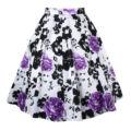 50 s rockabilly balanço do vintage estilo retro plissado da cópia floral saias para as mulheres formal escritório saias elegantes