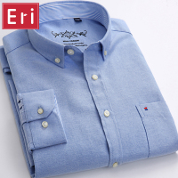 New Autumn Casual Shirts Slim Fit Long Sleeve Brand Formal Business Fashion Oxford Dress Shirt Chemise