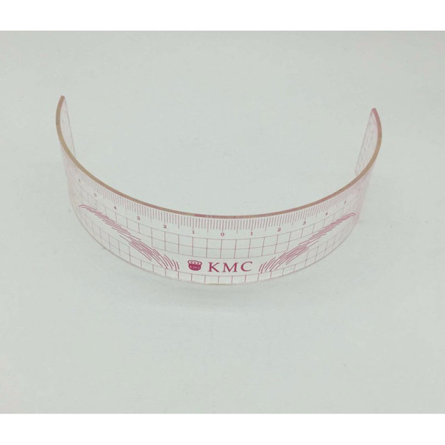 1pcs Permanent Makeup Stencils Plastic Eyebrow Ruler KMC Tattoo Cosmetic Shaping Tool For The Beginers 2