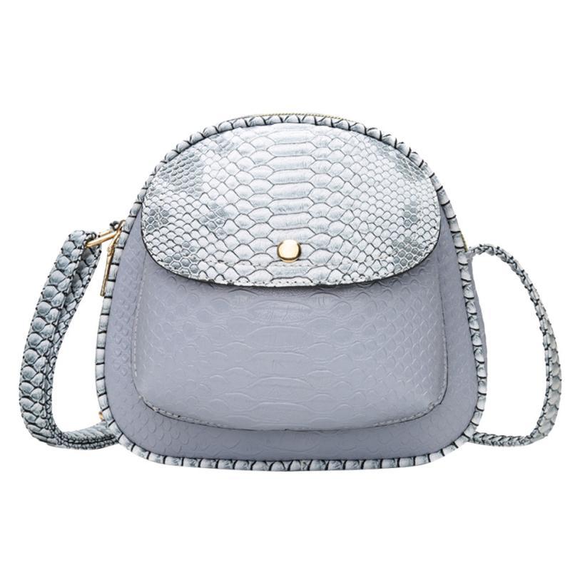 Vintage womens handbags bag female Serpentine Leather Crossbody Bag Hit Color Shoulder Bag composite bag female 18JUNE7
