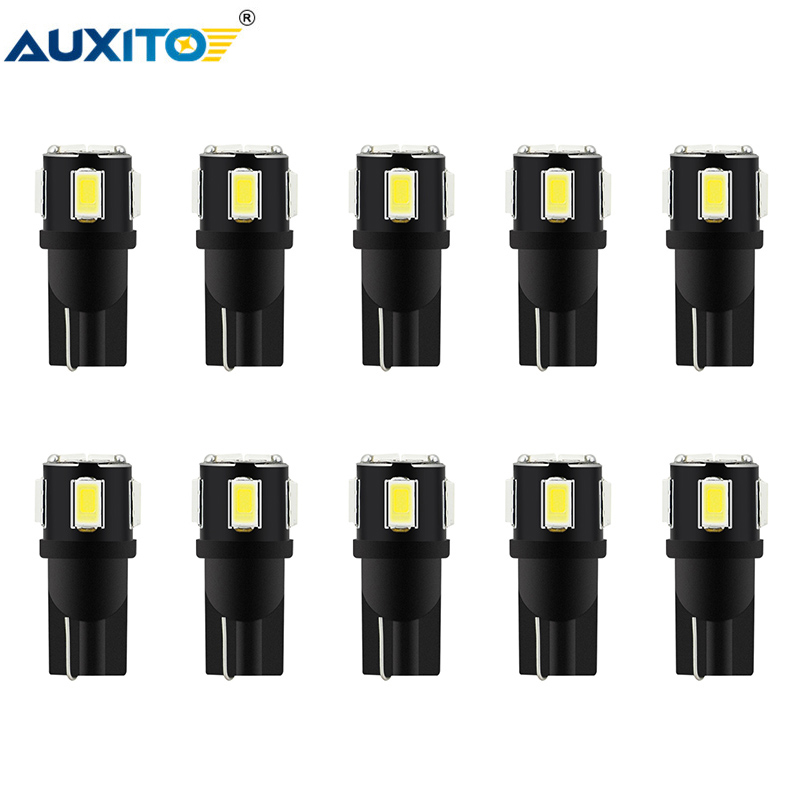 AUXITO 10x W5W <font><b>T10</b></font> <font><b>LED</b></font> <font><b>Bulb</b></font> <font><b>Car</b></font> Interior Reading License Plate Lights Dome Trunk Lamp for Kia Rio 2 3 Mazda Toyota Peugeot 206 image