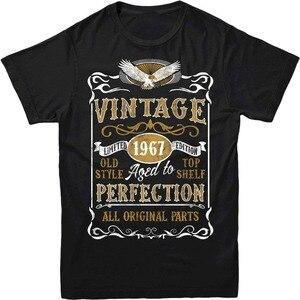 Wykonane w 1967 w stylu Vintage t-shirt. Urodzony w 1967 roku 50Th rok urodziny wieku rok prezent Top T Shirt na zamówienie dowolny rozmiar Logo Hip Hop T Shirt