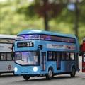Bus coche de juguete para niños de aleación modelo de autobús de doble capa luz y sonido se retraen de simulación de coches modelos de coches brinquedo menino