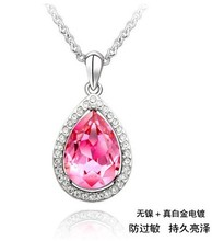 Luxury gifts Austrian crystals water drop best friends pendant necklace fashion jewelry – Tears of love