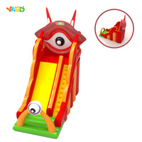 Good Quality Small Red Color Inflatable Slide With Eyes For Kids