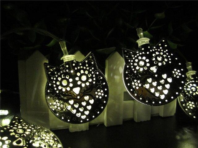 Moroccan Lantern Solar Lamp Garden Decoration Waterproof 20LED Solar  Powered Fairy Metal Animal Owl String Light