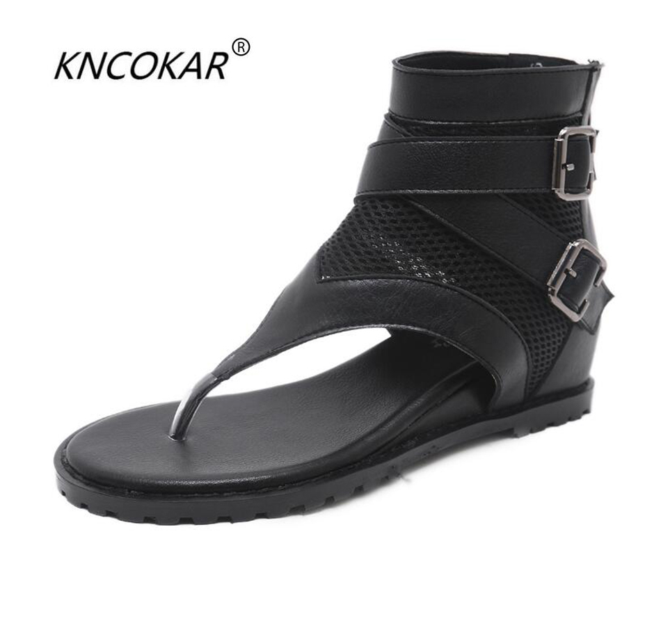 KNCOKAR   Comfortable flat toe sandal for women students to take advantage of the fashionable high-end air ventilation net shoesKNCOKAR   Comfortable flat toe sandal for women students to take advantage of the fashionable high-end air ventilation net shoes