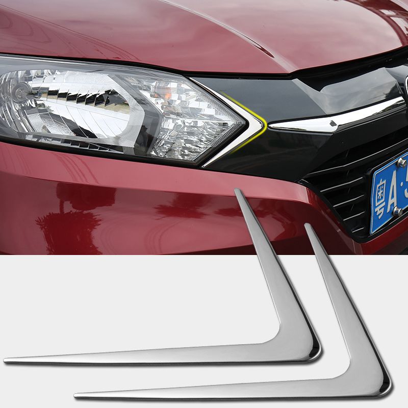 For <font><b>Honda</b></font> <font><b>HRV</b></font> HR-V 2014 2015 2016 2017 Car Headlights <font><b>Trim</b></font> Covers Decorative Head light Triangle Covers Frame Auto Accessories image