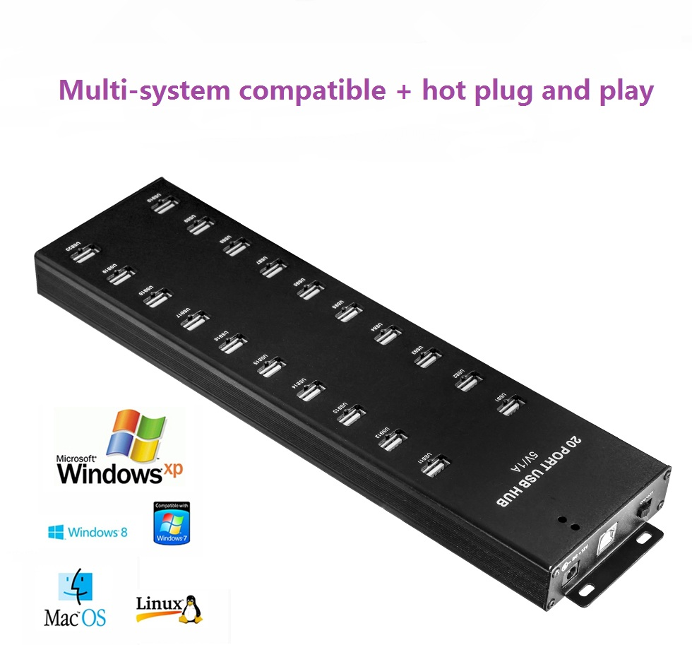 20 charging port USB 2.0 hub from Sipolar.com
