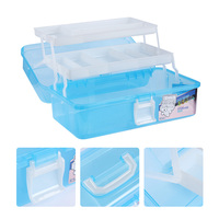 1 Pc Plastic 3 Layers Portable Nail Decoration Container Brush Holder Nail Art Tool Organizer Box