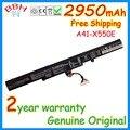 Nueva Genuino A41-X550E batería para ASUS X 450 A450 X450J X450JF A450C A450V A450E X750LN baterías originales 2950 mah 44Wh 15 V