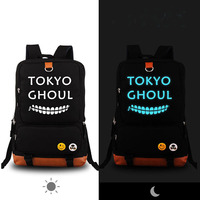High Quality Anime Tokyo Ghouls Luminous Backpack Rucksack School Bags Printing Canvas Travel Fashion Laptop Bags