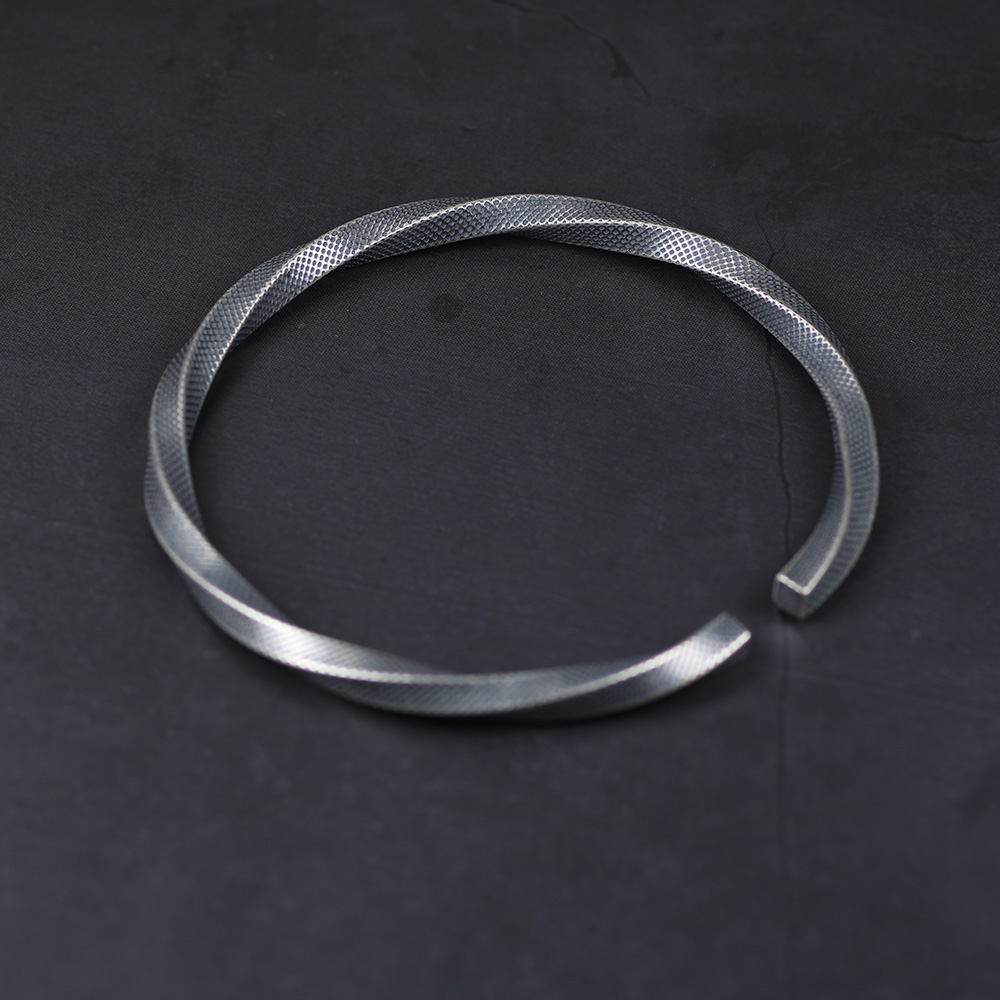 925 Sterling Silver Twisted Cuff Bracelets & Bangles For Men And Women Vintage Punk Rock Style Thai Silver Fine Jewelry