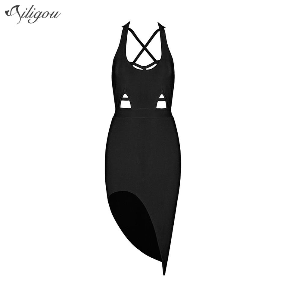 Robe Black New Ailigou Avant Soirée Femmes Out Lacent D'été 2017 De Du Bandage Genou dessus Mini Robes Creux apricot Célébrité rIIUg8q