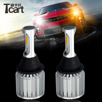 Tcart 1Set High Power Auto Led CoB Lamp 1157 BA15D Yellow Turn Signals Dual Color Switchback