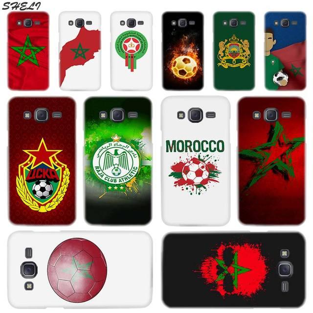 Sheli Morocco Bóng Đá Bóng Đá Trong Suốt Cứng Điện Thoại Trường Hợp đối Với Samsung J1 J2 J3 J4 J5 J6 J7 J8 2015 2016 2017 2018 J7 Pri Cộng Với