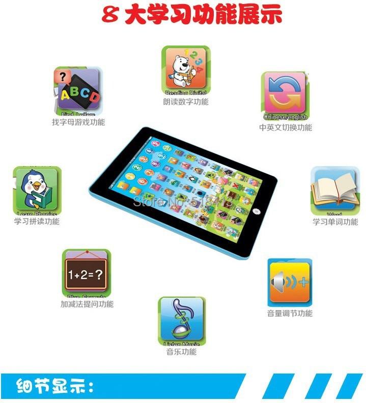 Новое поколение обучающих машинных планшетов для чтения, необычные китайские и английские Обучающие на батарейках унисекс