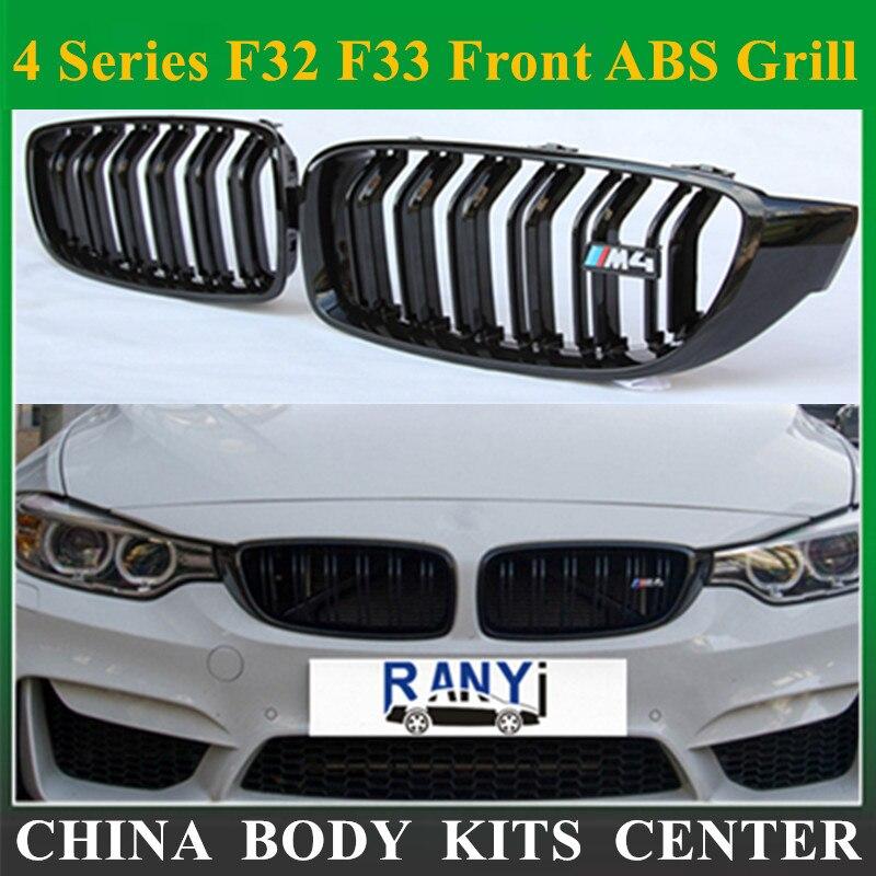 Série 4 F32 F33 Avant Gril ABS pour BMW F36 F80 M3 F82 F83 M4 2 Portes Coupé Cabriolet 420i 428i 435i 428d 420d 425d 430d 435d