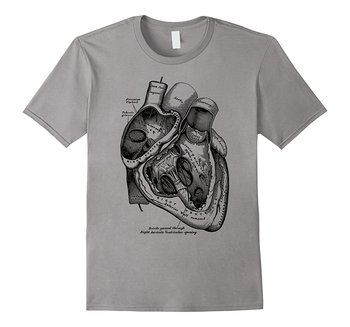 2019 New Short Sleeve Casual Anatomical Heart T-Shirt Medical Anatomy Illustration Summer Casual Man T Shirt Good Quality