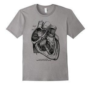 Image 1 - 2019 חדש קצר שרוול מזדמן אנטומי לב חולצה רפואי האנטומיה איור קיץ גבר מזדמן T חולצה באיכות טובה