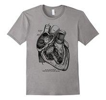 Camiseta informal de manga corta para hombre, camiseta con corazón anatómico, ilustración de anatomía médica, camiseta informal de verano de buena calidad, 2019