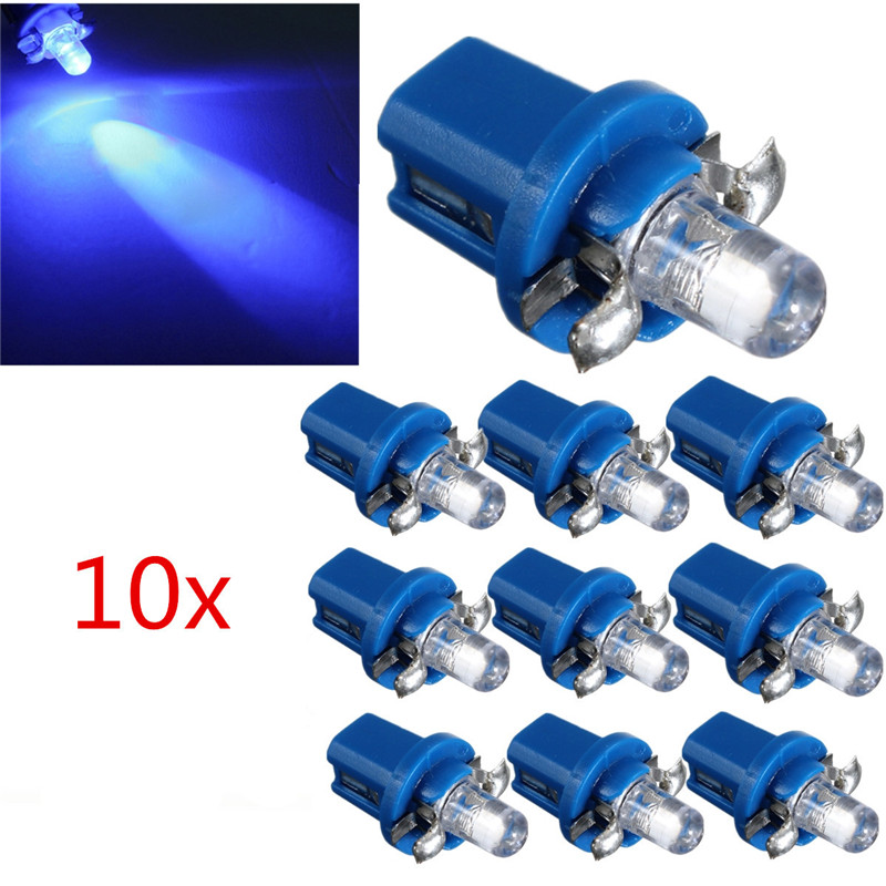 10pcs LED Car Interior Light Bulb T5 B8.5D Car Led Gauge 1 SMD Dash Bulbs Dashboard Instrument Panel Light DC 12V цена и фото